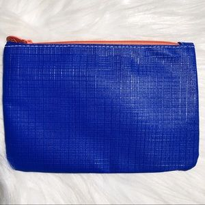Ipsy Glam Bag 💄 Blue, White, & Orange Makeup Bag